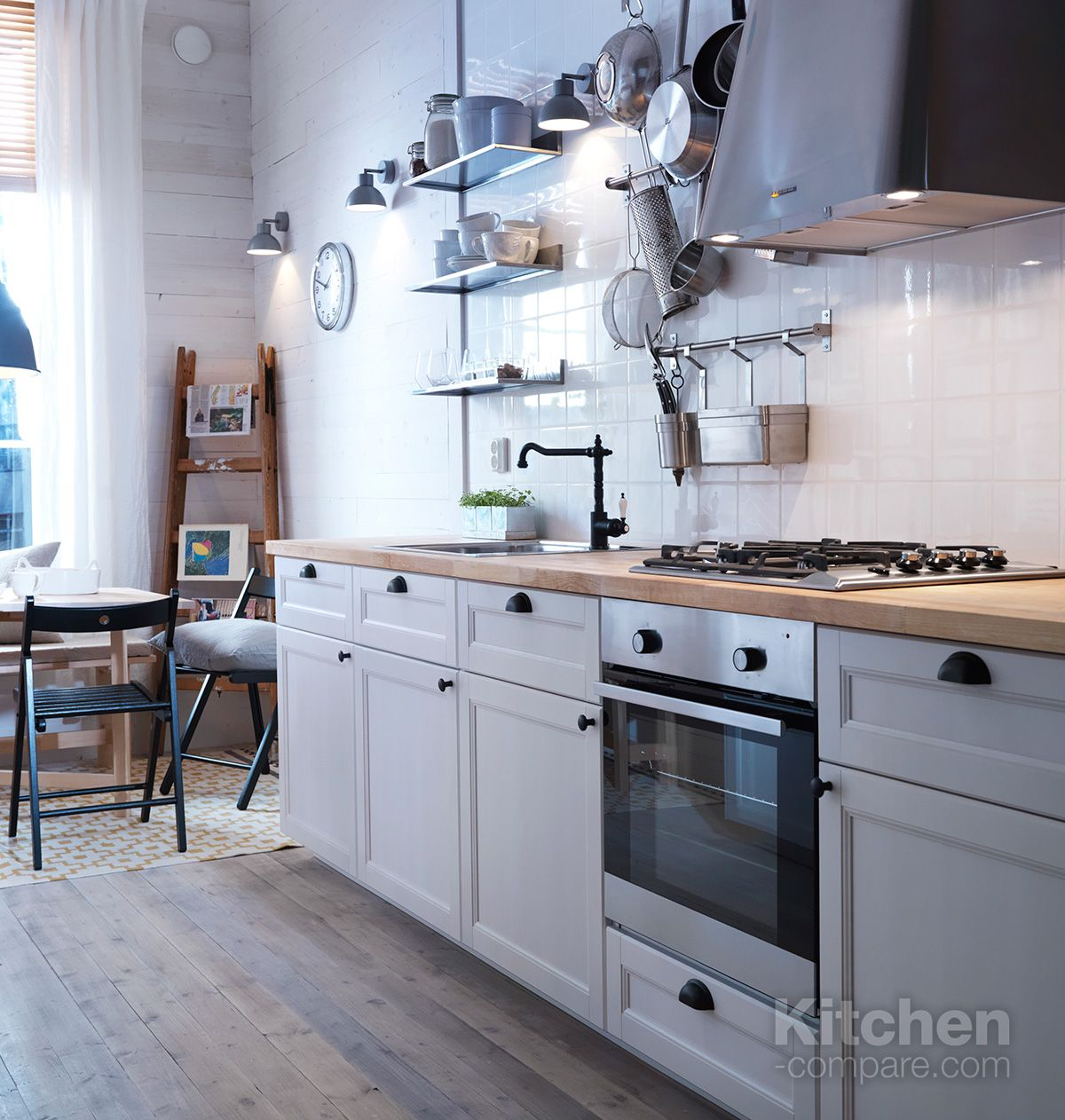 Ikea Off White Kitchen Cabinets Ikea Metod Laxarby White Birch Kitchen In 2019