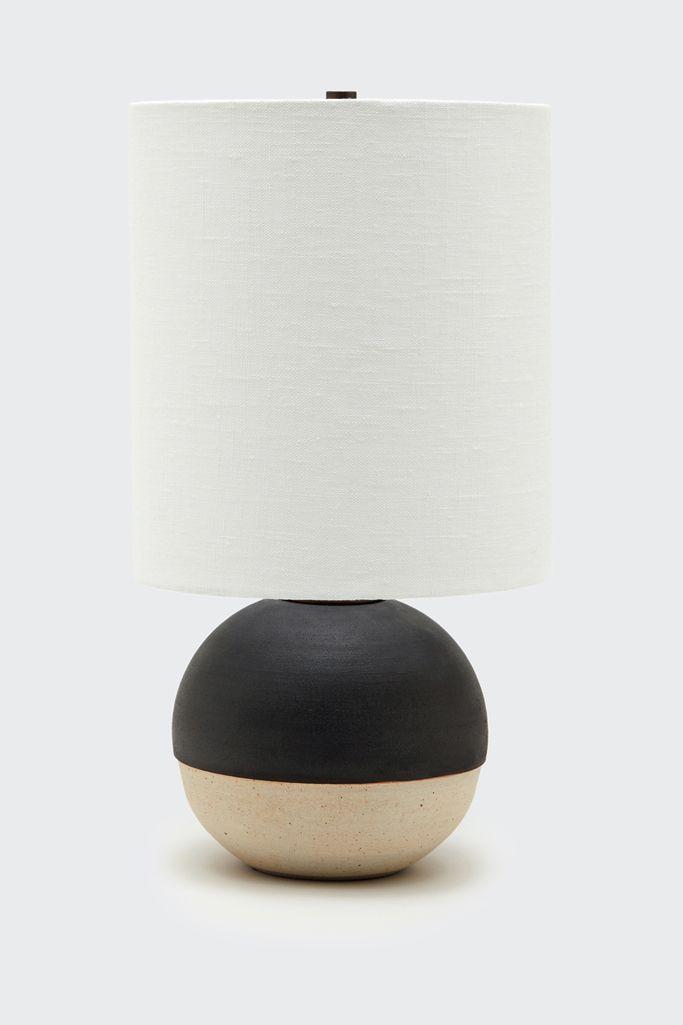 Mini Orb Lamp In Black White Glaze White Glaze Lamp White Lamp