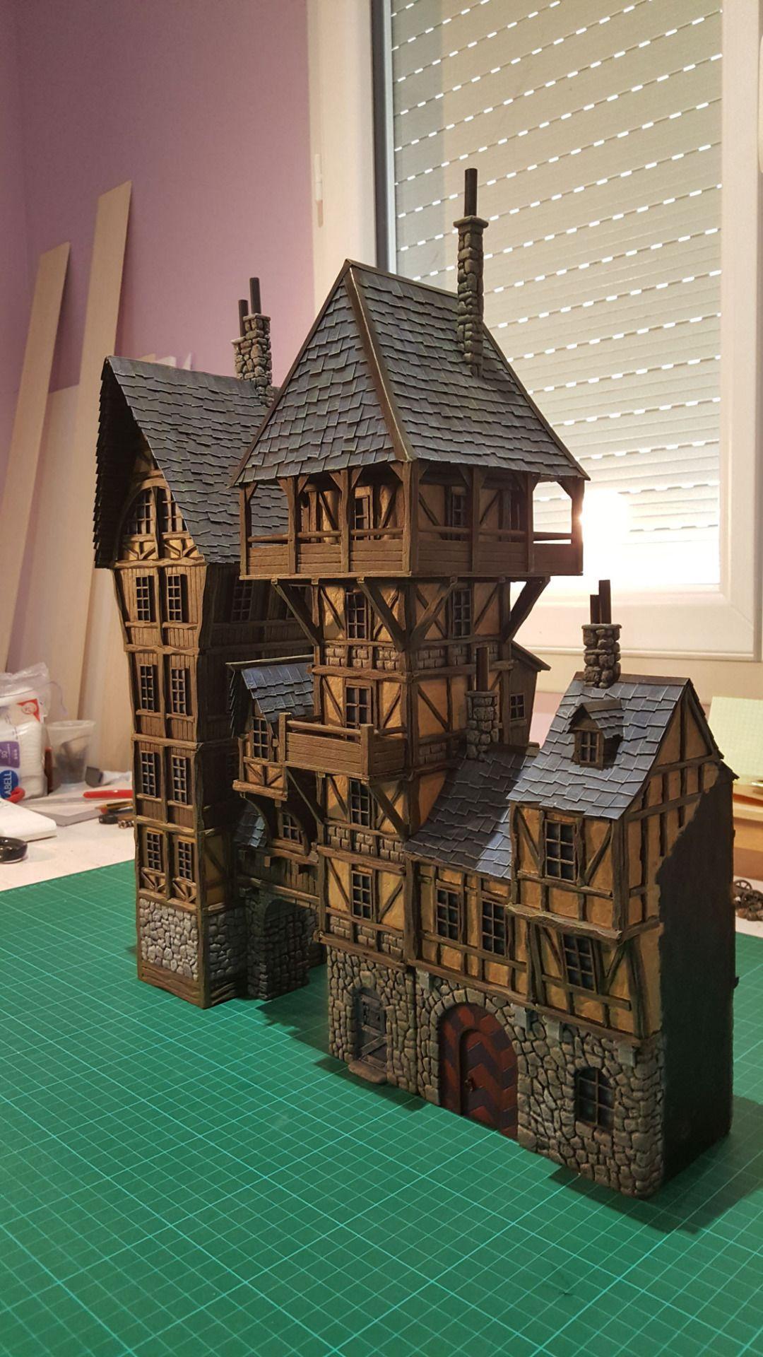 Providence Medieval City Port Miniature By Chris Da