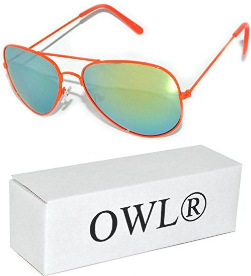 c9a0eef5f8f Aviator Sunglasses (Orange Gold Mirror) OWL.