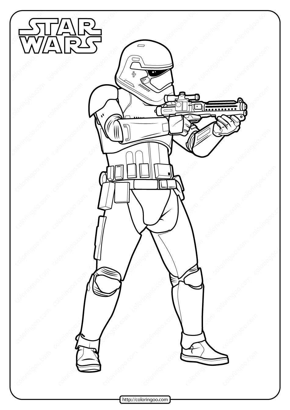 Printable Star Wars Stormtrooper Coloring Page Star Wars Coloring Book Star Coloring Pages Star Wars Prints