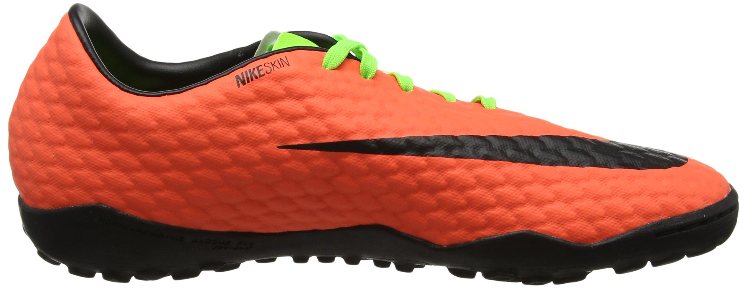 Nike Mens HyperVenomX Phelon III TF Turf Soccer Shoes Sz. 11.5 Electric  Green Hyper Orange