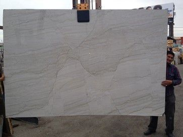 White Macauba Quartz Granite Slab from Royal Stone & Tile - kitchen countertops - los angeles - Royal Stone & Tile