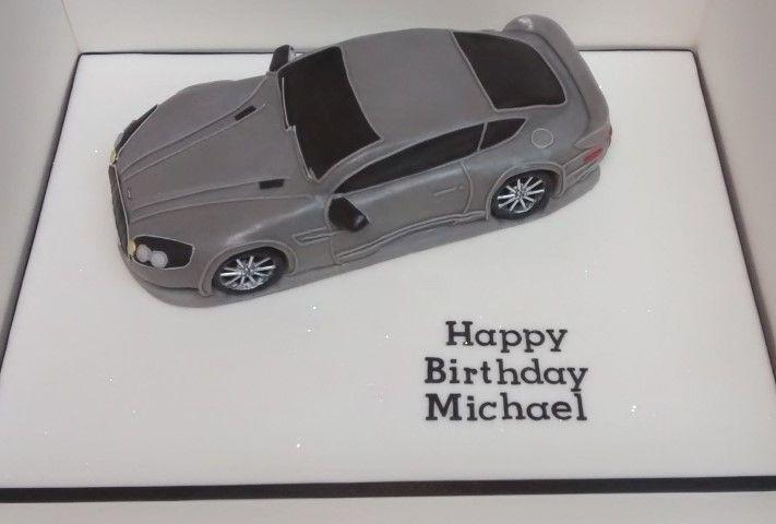 Aston Martin Birthday Cake Men Car Birthday Cakes Pinterest