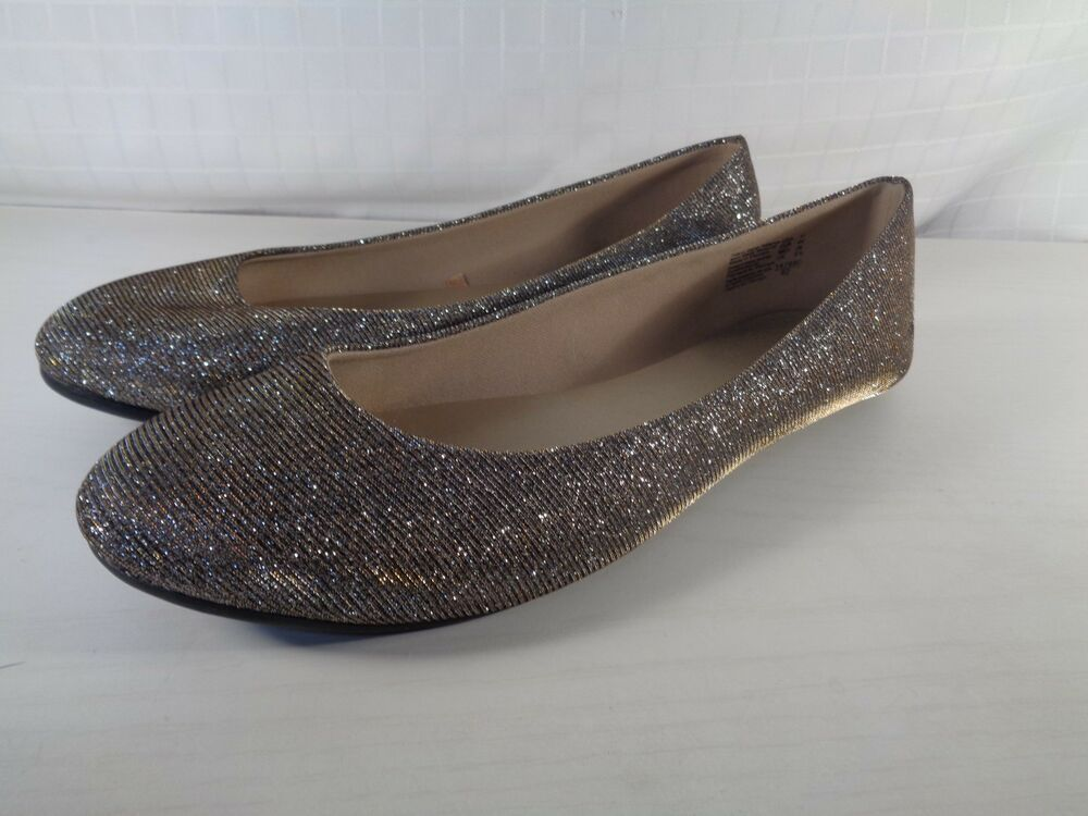 release info on online shop classic styles Sparkly silver flats size 11 M by Lower East Side Lightly ...