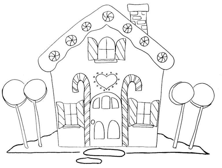 11 Casas De Caramelo Y Gominolas Para Colorear Bebeazul To Dibujos De Navidad Para Imprimir Casa De Pan De Jengibre Navidena Paginas Para Colorear Para Ninos