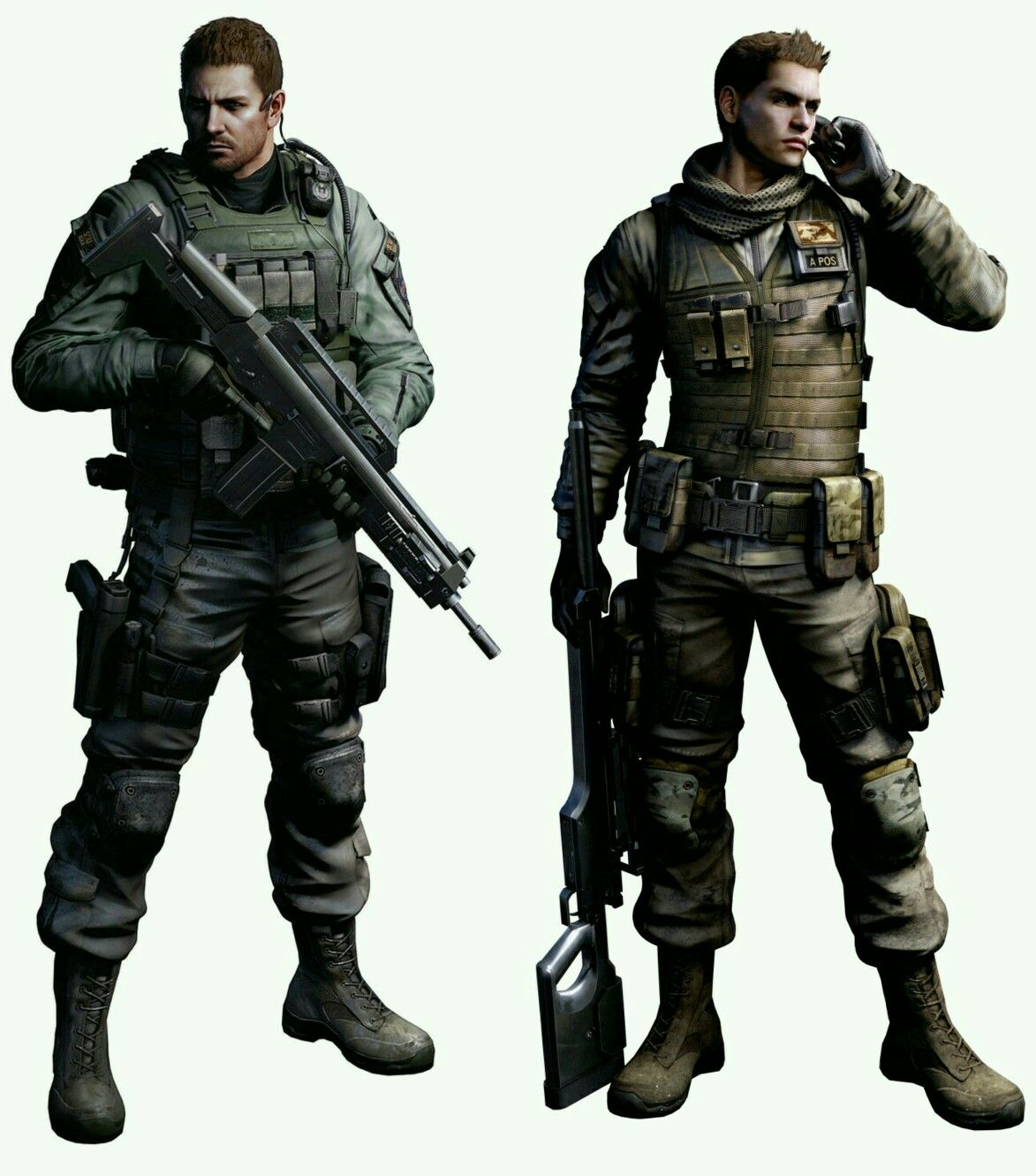 Chris Redfield And Piers Nivans Resident Evil 6 Resident Evil Evil Resident