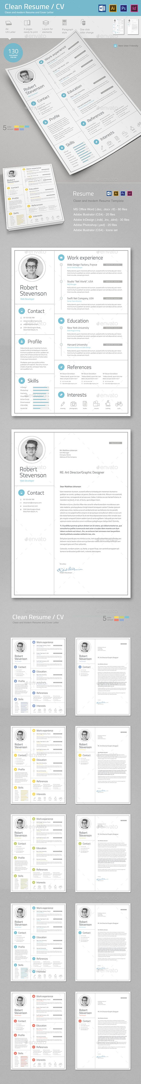The Modern Resume Resumecv  Resume Cv Template And Cv Template