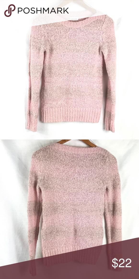 da52b96fb2 Calvin Klein sweater Light pink with very light grey stripes ...