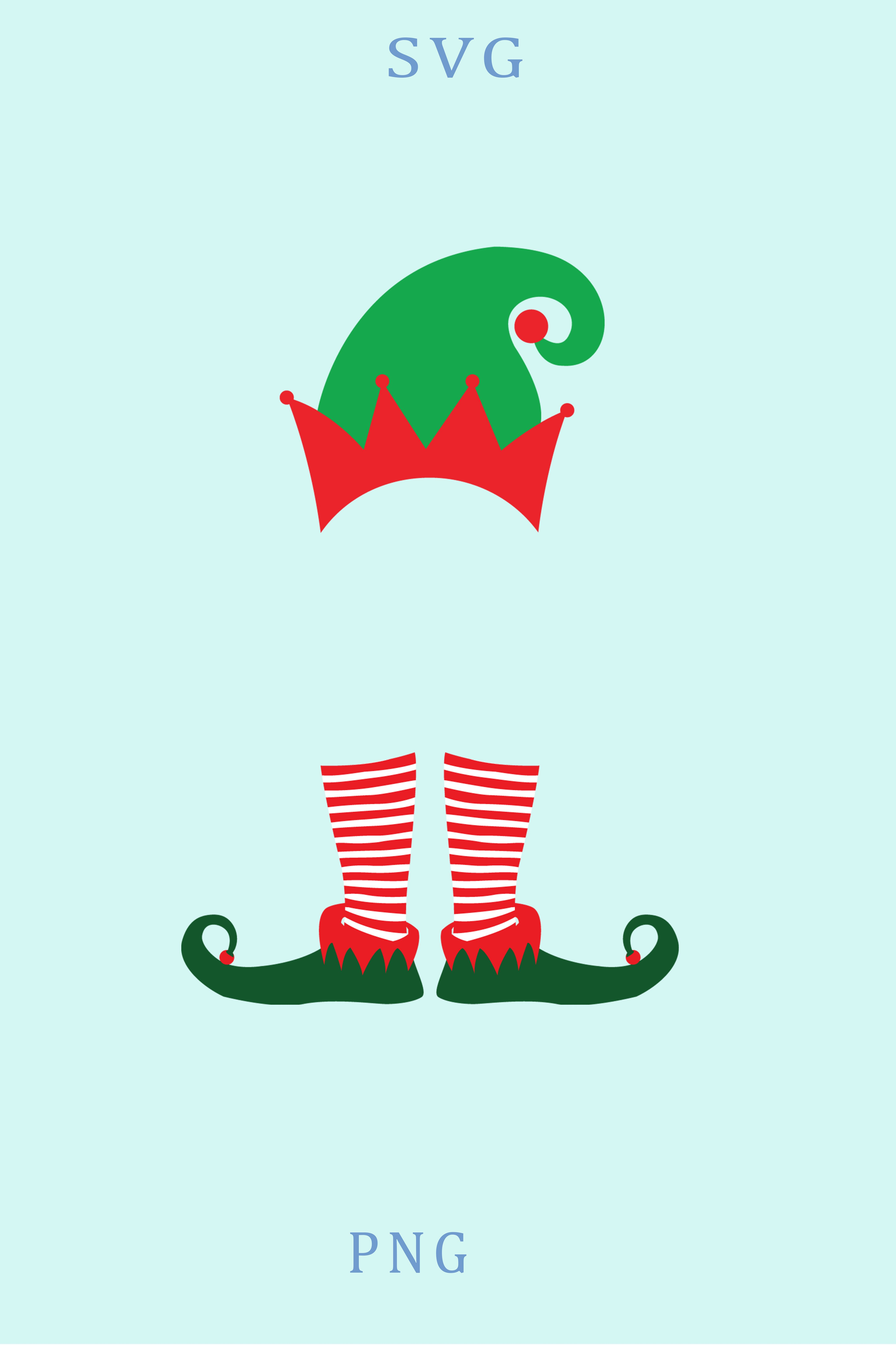 Elf Leg Christmas SVG Clipart Digital Silhouette and