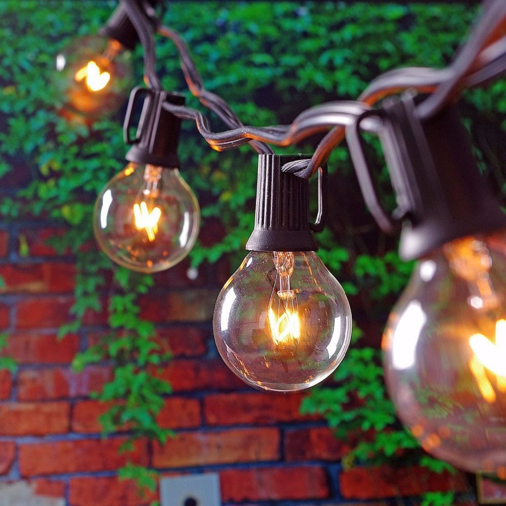 Patio Light Bulbs 25ft globe string lights with 25 g40 bulbs vintage patio garden 25ft globe string lights with 25 g40 bulbs vintage patio garden light string for decooutdoor lights string for christmas party b e s t online workwithnaturefo