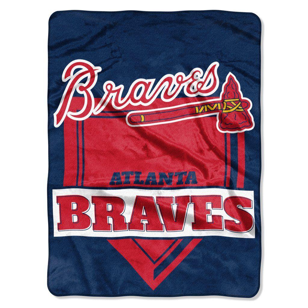 Atlanta Braves Blanket 60x80 Raschel Home Plate Design With Images Atlanta Braves Designer Bedding Sets
