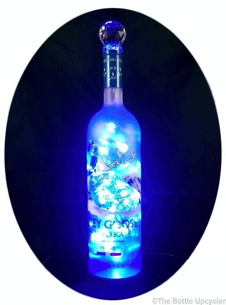 Upcycled Grey Goose Vodka Mood Therapy Liquor Bottle Light