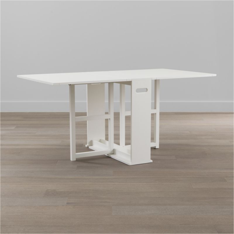 span white gateleg dining table crate and barrel home rh in pinterest com