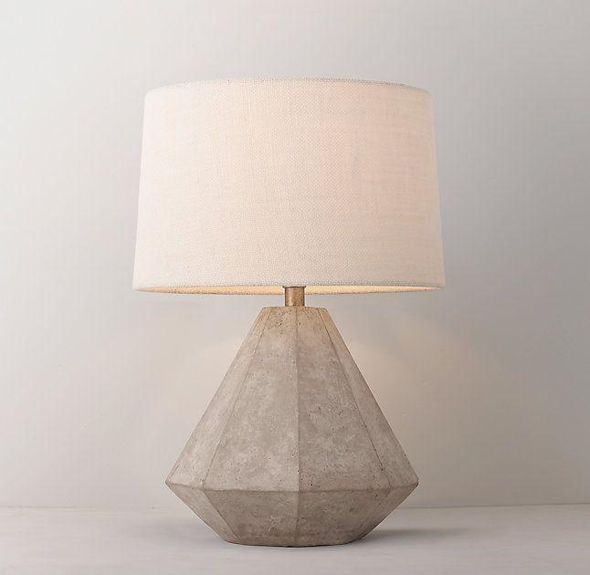 Gannon concrete table lamp base home wish list for Modern bedside lights