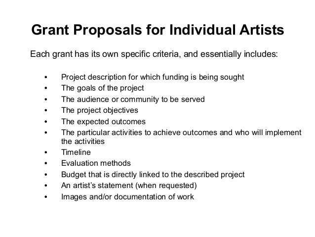 Image Result For Sample Artist Funding Proposal  Artist Info