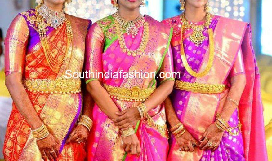 ab9930d79b1f4 big border elbow length sleeves blouse for pattu silk sarees