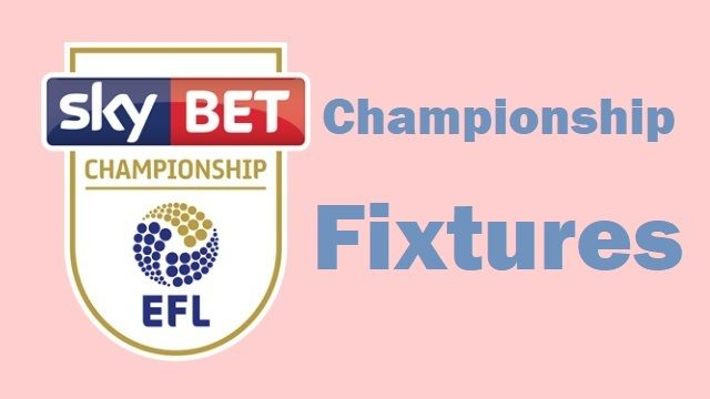 Championship Fixtures - Updated | Soccer results, Soccer ...