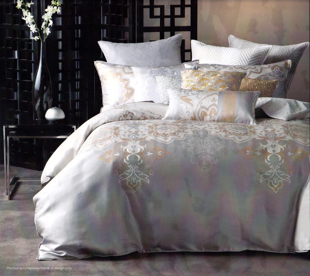 Bed cover in bedding ebay - Linen House Pondichery Cream Gold Silver King Quilt Doona Duvet Cover Set Ebay