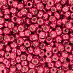 Size 8 Hot Pink Permanent Galvanized Round Japanese Seed Bead | Fusion Beads