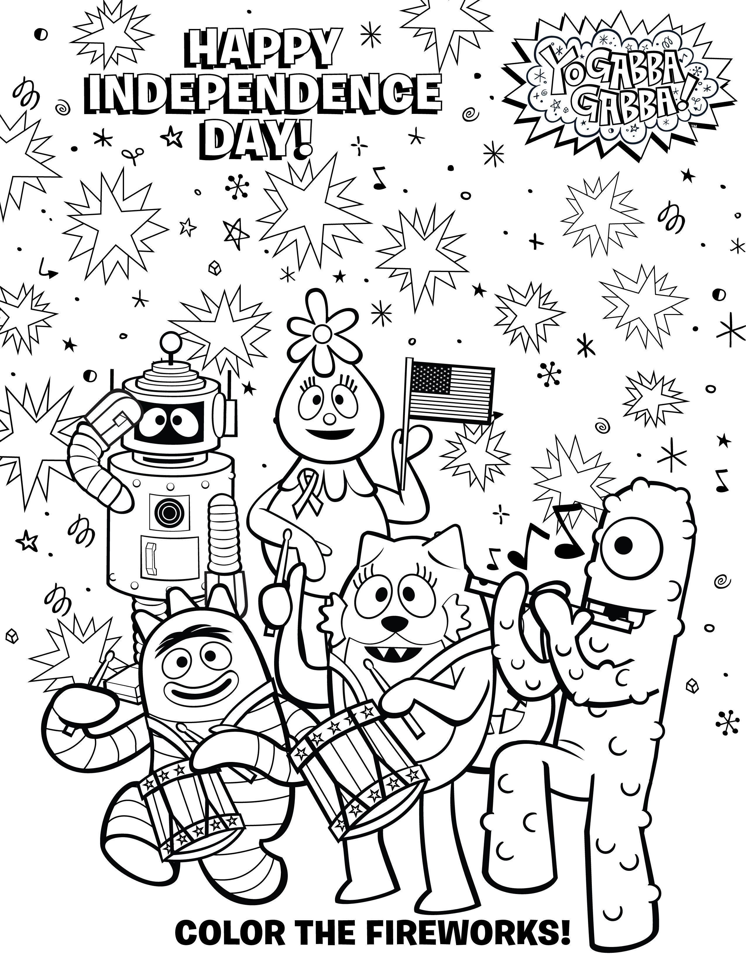 Enjoy This Free Ygg July4th Coloring Sheet