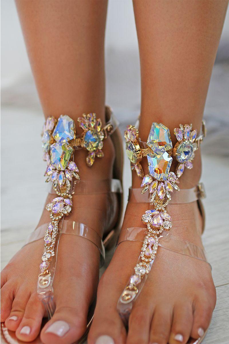 2f34ace4cd5d Ružovozlaté sandále Karya