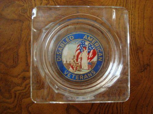 Vintage Disabled American Veterans Logo Ashtray Veteran Logo American Veterans Vintage
