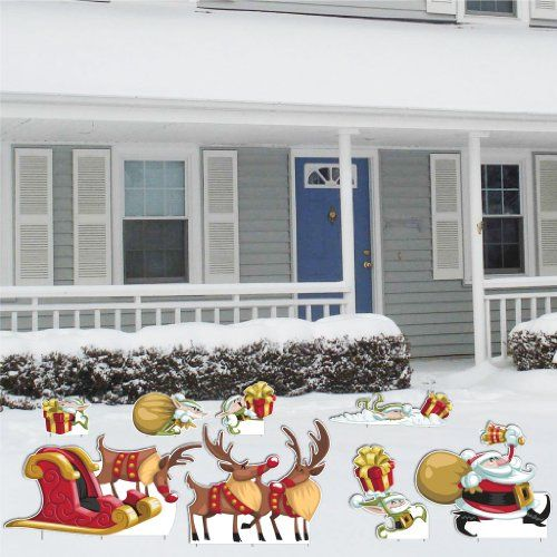"""Christmas """"Funny Characters"""" Yard Decoration (includes 20 small short stakes) VictoryStore http://www.amazon.com/dp/B009T6KML8/ref=cm_sw_r_pi_dp_wEybwb17NRCWF"""