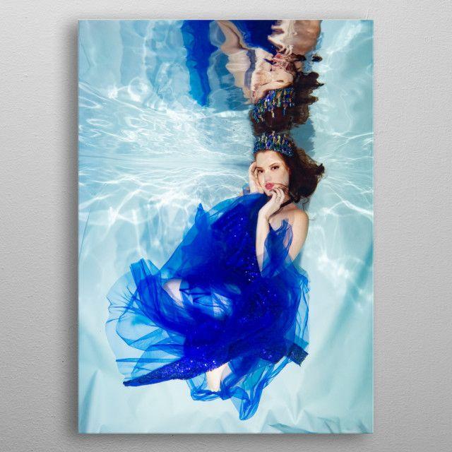 Underwater - Blue by Andrew Riley | metal posters - Displate | Displate thumbnail