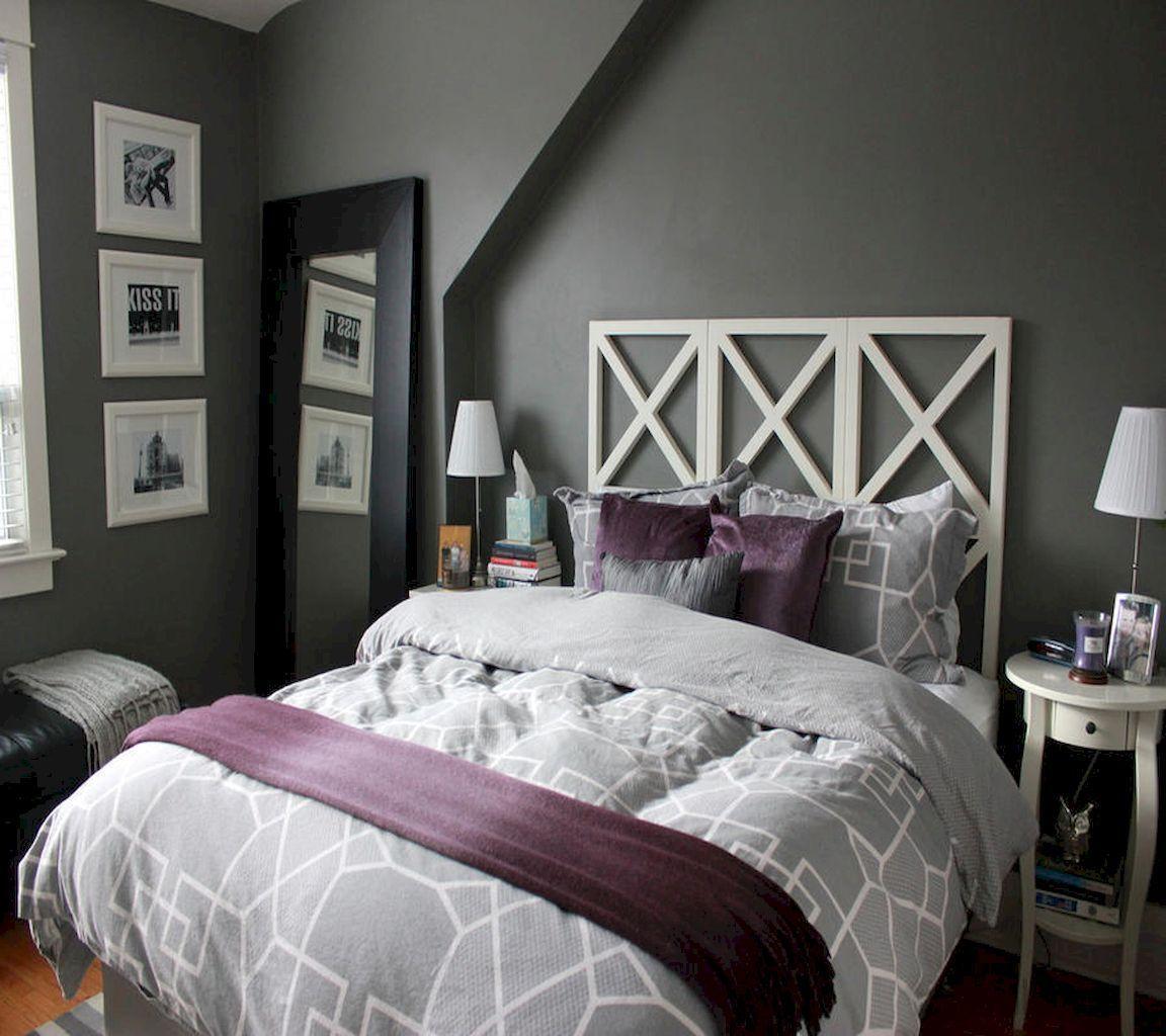 Stunning Purple Bedroom Design Ideas #PurpleBedroom | Grey ...