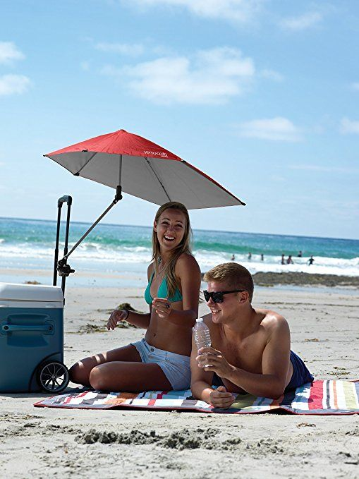 Amazon.com: Sport-Brella Versa-Brella 4-Way Swiveling Sun Umbrella (Firebrick Red): Sports & Outdoors