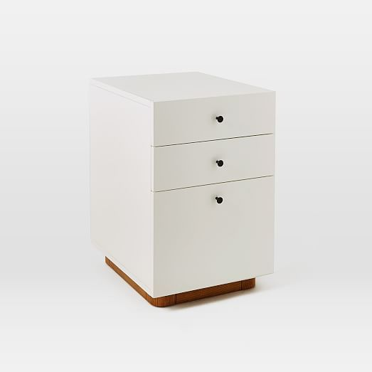 "$399 modern file cabinet | west elm 6""w x 20""d x 24""h. 