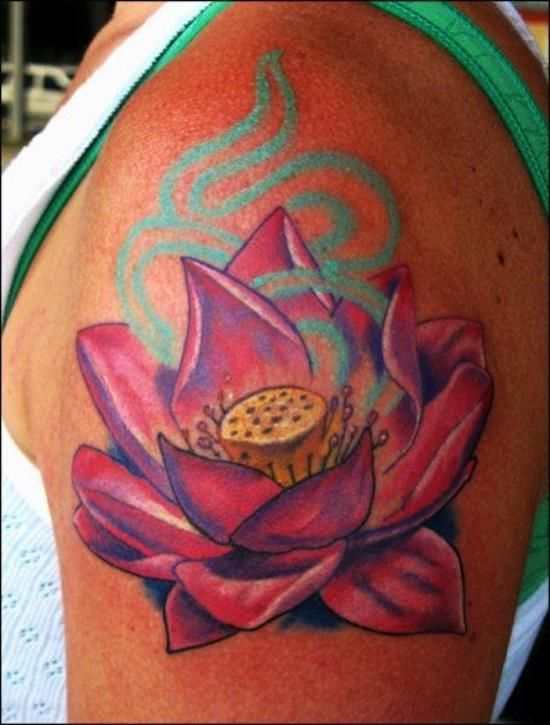 ad7d0723de10f Pin by StyleUp on Lotus Flower Tattoos | Lotus flower tattoo design, Flower  tattoos, Flower tattoo designs