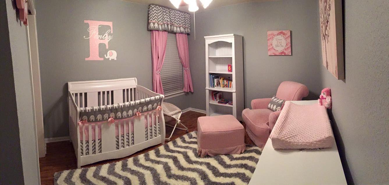Pink And Grey Elephant Nursery Project Nursery Elephant Baby