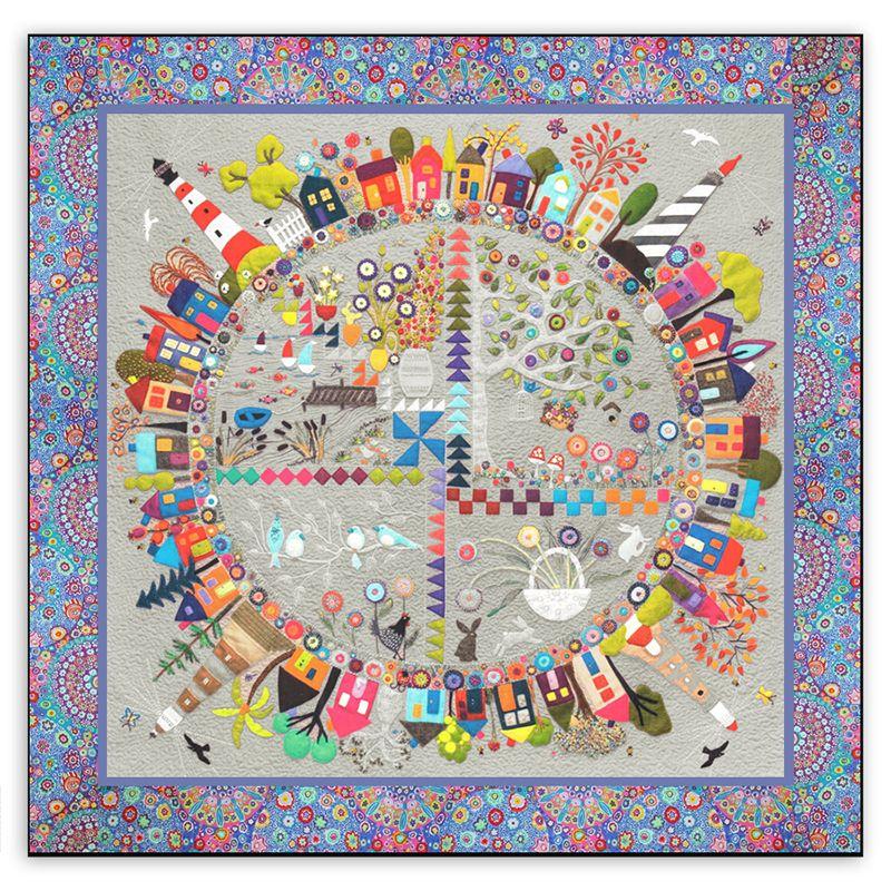 New! Round the Garden Customized Quilt Kit! Linen & Wool Felt ... : customized quilts - Adamdwight.com