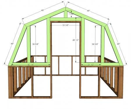 Ana white build a barn greenhouse free and easy diy for Free greene and greene furniture plans