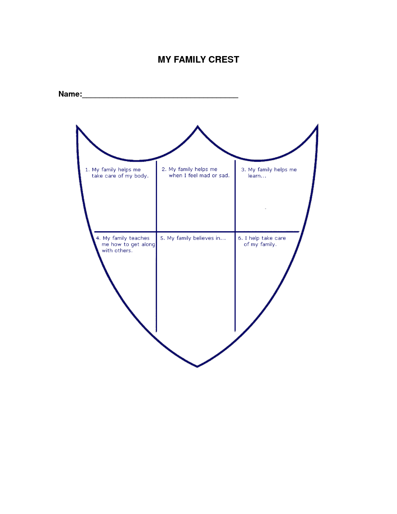Coat Of Arms Worksheet With Instructions