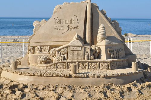 Sand Sculputure on Smuggler's Beach, Yarmouth, MA Cape Cod (by JoeMBPro)
