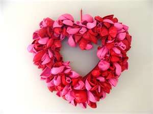 Red & Pink Baloons wreath