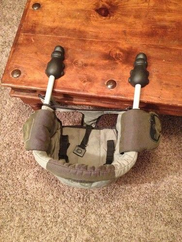 Hook On Chair Mobile Phone Holder Chicco Caddy Table Portable Baby High Green Mountable Highchair Ebay