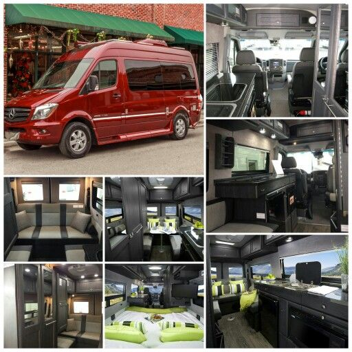 Dream rv ruby red roadtrek ss agile with ebony interior for Mercedes benz rv class b