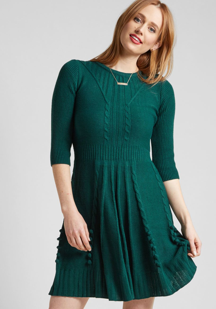 Warm Cider Sweater Dress In Forest In 2018 What To Wear