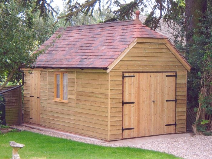 Best Pic 23 5 4M X 3 0M Garage With 35° Pitch Roof Timber 400 x 300