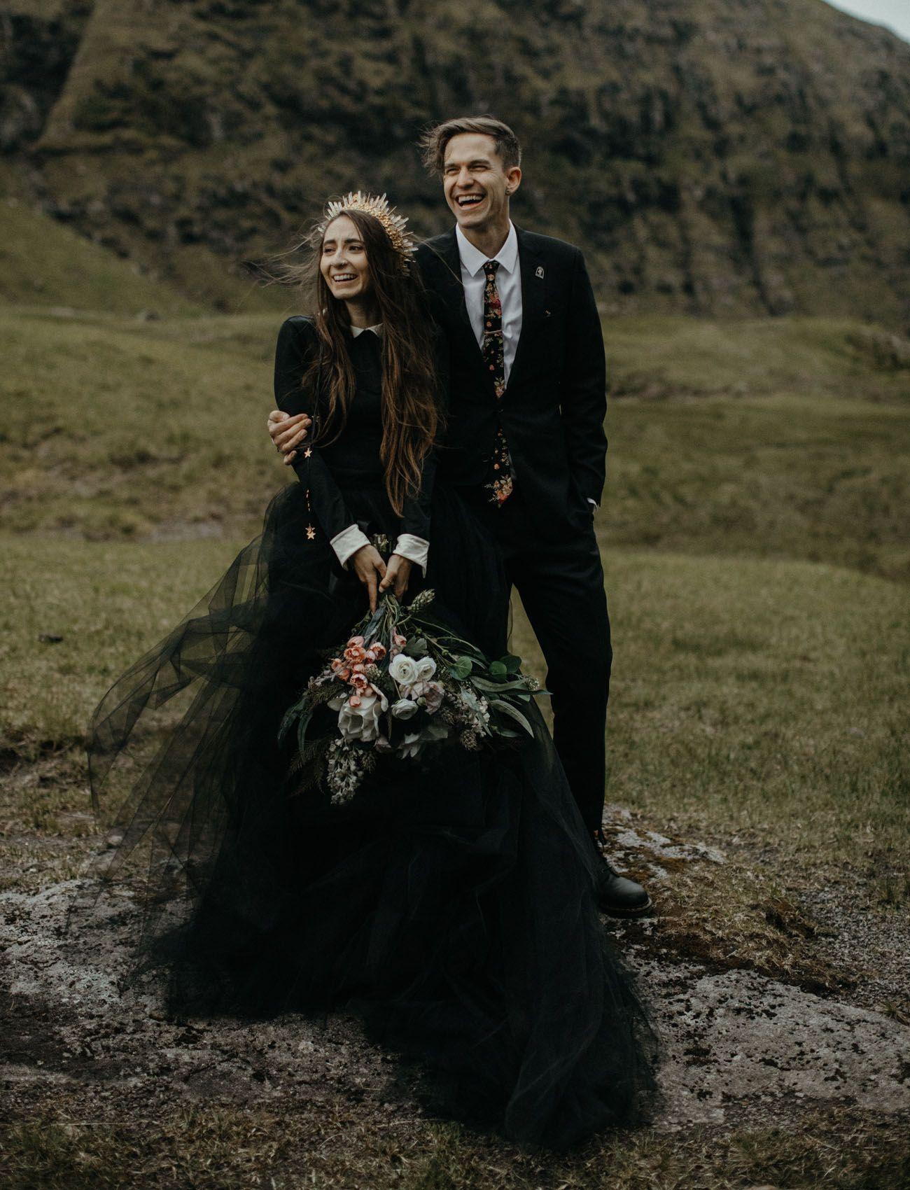 Mango Street Sweethearts Rachel Daniel S Moody Elopement On The Faroe Islands Green Wedding Shoes Gothic Wedding Black Wedding Dresses Wedding Dress Guide [ 1700 x 1300 Pixel ]
