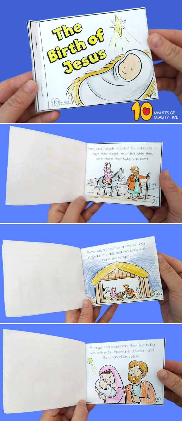 The Birth of Jesus Short Story With Pictures Christmas