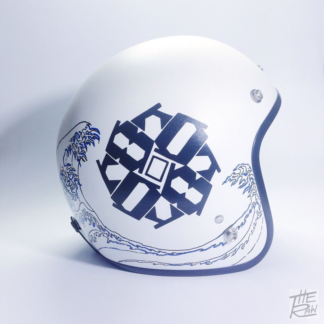 8080 logo on Japanese wave Custom helmets, Custom