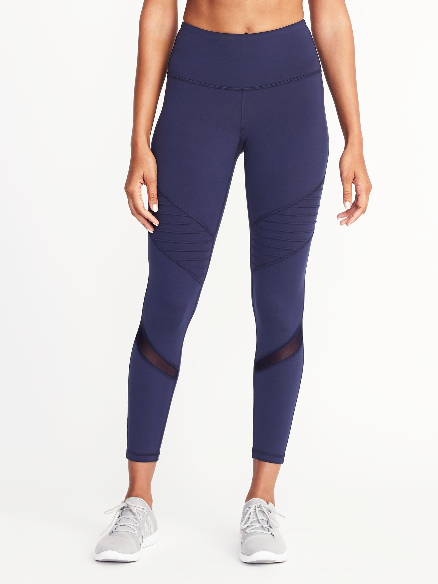bf1f4a3fdf High-Rise 7/8-Length Moto Compression Leggings for Women | Old Navy ...