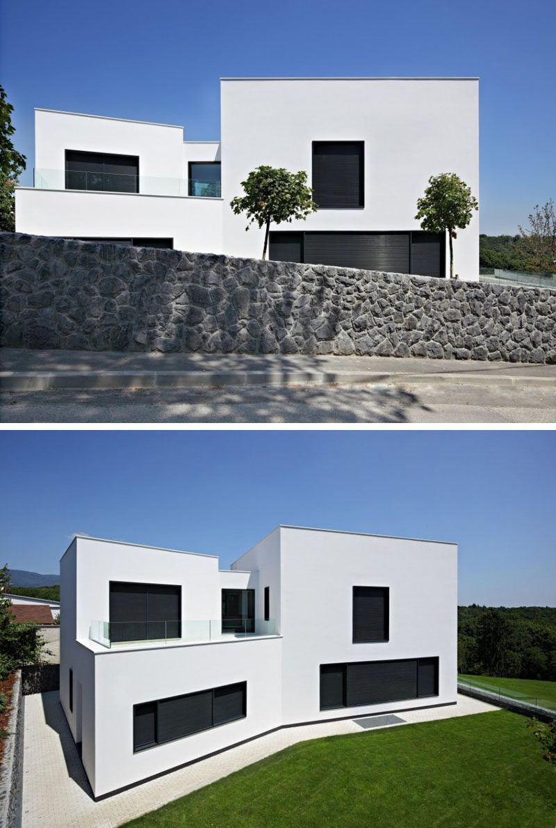 12 Minimalist Modern House Exteriors The White Exterior Of This