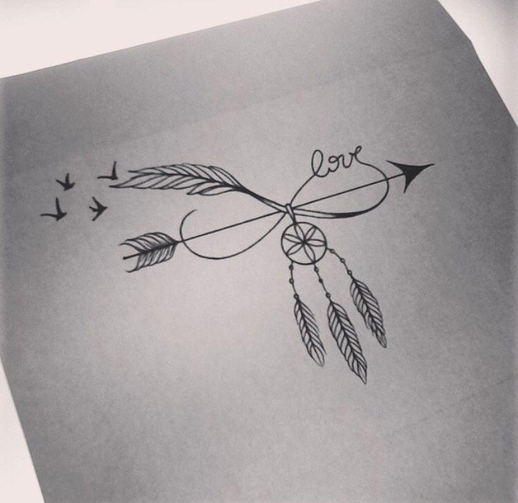 Photo of Lassen Sie sich # mit #ce #tatoo # inspirieren: #Model #Tattoo #mit #Traumfänger #und #Wort. …