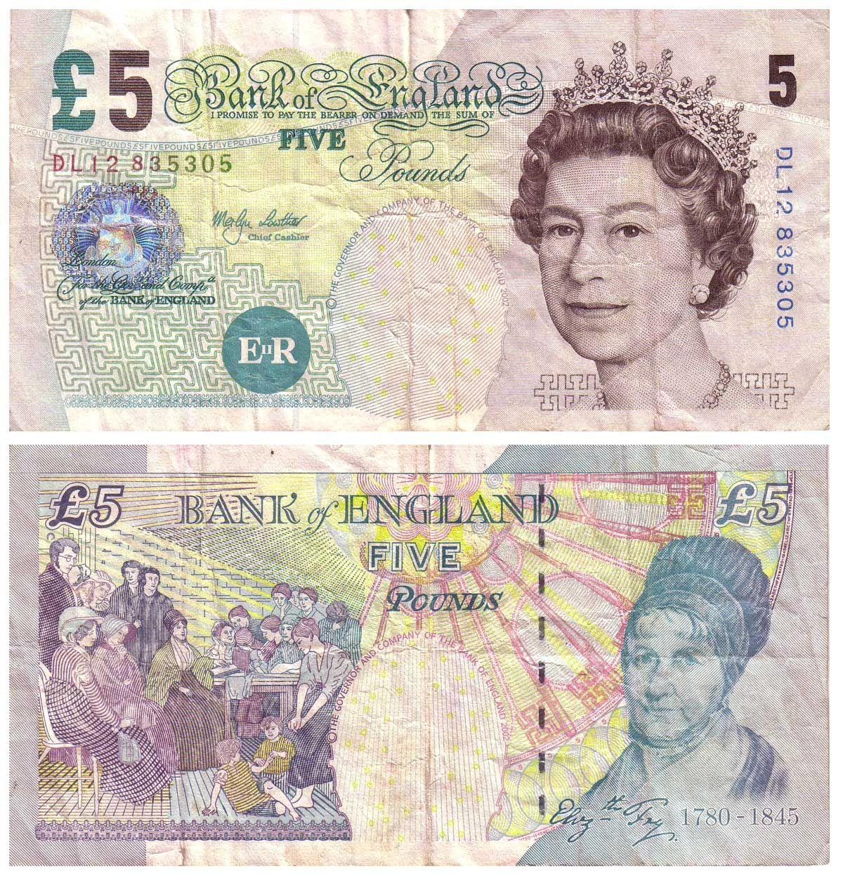 British Pound Billetes Papel Moneda Billetes Del Mundo